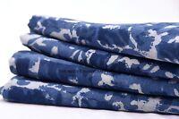 5 Yard Indigo Blue Dabu Print Fabric Hand Printed Pure Cotton Block Print Fabric