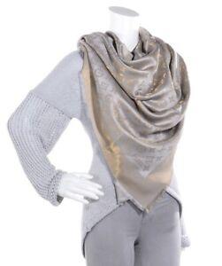 LOUIS VUITTON Silk Lurex Wool Monogram Shine Shawl Beige