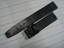 VINTAGE NOS EBEL 18X16MM SIGNED BLACK LIZARD BAND STRAP         *6452