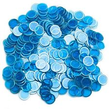 300 pc Blue Magnetic Metal Ring Bingo Chips Easy Pick Up for Game Nights Parties