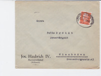 germany  1932 bahnpost railway stamps  cover ref r14221