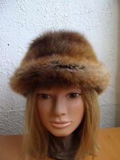 MINT NATURAL BROWN MUSKRAT FUR HAT WOMEN WOMAN SIZE ALL