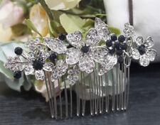 beautiful elegant wedding blue color rhinestone bridal hair comb ha3806