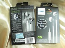 Philips TX1 White In-Ear Clear Natural Sound Headphone Earphone with Mic