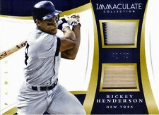 2015 IMMACULATE RICKEY HENDERSON BAT/JESEY RELIC #/49