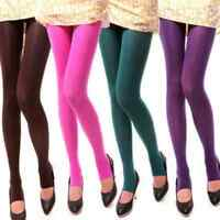 Women Sexy Lady Multicolor Velvet Opaque Pantyhose Tights Stockings Socks New