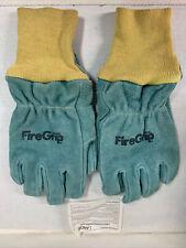 Firegrip Brand Leather Work Gloves Size Mampl Fire Fighter Usa Bbq Heavy Duty Nos