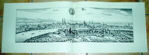 Basel alte Ansicht Merian Druck Stich Städteansicht Schweiz Druck Basilea