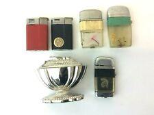 Vintage Lot ASR Scripto Vu-Lighter Dice Fishing Lure Crown Songyo Lighters Parts