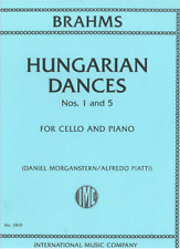 BRAHMS HUNGARIAN DANCES NOS. 1 AND 5 FOR CELLO & PIANO INTERNATIONAL MUSIC BOOK