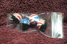 NOS USA FLAG VALVE STEM CAPS AUTO TRUCK MOTORCYCLE HOT RAT ROD PART ACCESSORY