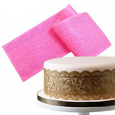Hot Lace Silicone Mold Mould Sugar Craft Fondant Mat Cake Decorating Baking Tool