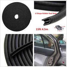 4.5m Black High Quality Rubber U-Style Car Edge Seal Trim Protector Guard Strip