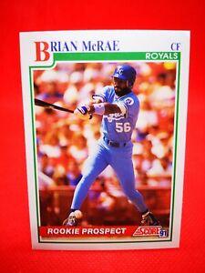 Score 1991 carte card Baseball MLB US NM+/M Kansas City Royals #331 Brian McRae