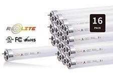16PCS 18W 4FT LED T8 Light Tube 32W Equivalent 4100K Single Ended Bypass Ballast