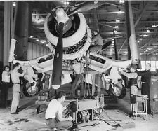 WWII Photo F4U Corsair Final Assembly  WW2 B&W World War Two / 5118