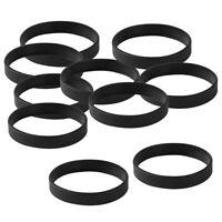 Bracciale nero 10 pezzi elastico in gomma siliconica Bracciale taglia unica