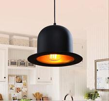 Modern Decor Black  Hat Bowler Jeeves Lamp Lighting Pendant Light Ceiling