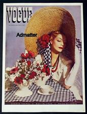 VOGUE FASHION MAGAZINE COVER POSTER MAY 1938 SUMMER TRAVEL VANITY FAIR ART PRINT