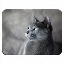 Mouse Tappetino 68 Russo Blu Gatto Qualità Premium Gomma Spessa Pad Morbido