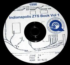 """Conrail 1996 Indianapolis Zone-Track-Spot Vol 1 """"ZTS"""" Maps PDF Pages on DVD"""