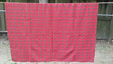 """Red Green Blue Gold Christmas Plaid Rectangle 74""""X56"""" Tablecloth Free Shipping"""