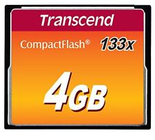 2 x Transcend 4GB 133x Compact Flash CF Memory Card for Nikon D70 and Canon XT