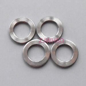 4pcs M8 Titanium Ti Flat Washer / Aerospace Grade for Bike Screw Bolt Nut Parts