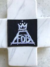 FOB Fall Out Band Black White American Grunge Music Iron On Patches Patch