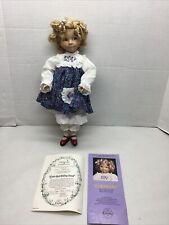 """Dianna Effner Vintage Porcelain Doll Goldilocks 13"""" Little Red Riding Hood Coa"""