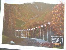 Folk Art LE Lithograph  PAUL J. HOFFMAN Adirondack Autumn NEW 11x14 artist sign