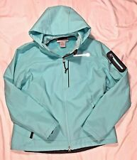 Free Country Womens Large Mint Green Fur Lined Hooded Ski Jacket Coat Parka