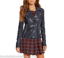 Designer Lambskin Made Distressed Leather Moto Style Jackets For Women WJ- 303