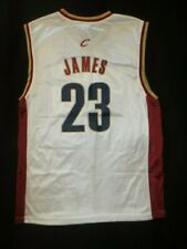 """AUTHENTIC REEBOK NBA LeBRON JAMES CLEVELAND CAVALIERS HOME JERSEY """"NWOT"""" LARGE"""