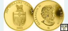 2009 'Yukon Coat of Arms' Proof $300 Gold Coin 14K (12446)