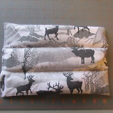 """Whitetail and Elk Hot/Cold Rice Microwaveable Therapy Pack 10"""" x 6"""""""
