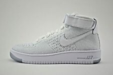 Womens Nike Air Force AF1 Hi Flyknit Basketball Shoes Size 6 White 818018 100