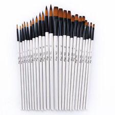 12pc/Set Artist Watercolor Painting Brushes Brush Oil Acrylic Flat/Tip Paint Kit