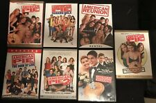 American Pie 7 DVD Lot. 1, 2, Reunion,  Wedding, Naked Mile, Love, Unrated