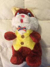 VINTAGE 1982 BROOKLYN DOLL CHIPMUNK IN BOWTIE & YELLOW VEST PLUSH DOLL TOY
