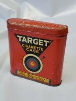 "Vintage Target Cigarette Case Tin w Match Strike bottom Louisville KY 3"" x 3"""
