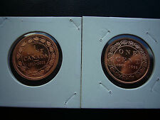 Rare! Canada 1911 - 2011 Centennial & 1908 - 1998 Anniversary Proof Large Cents
