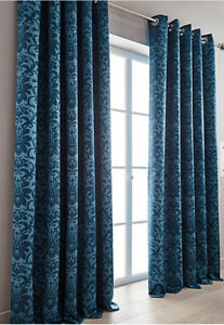 May Damask Woven Blackout Eyelet Curtains (Pair of) - NOW £10, £15 & £20