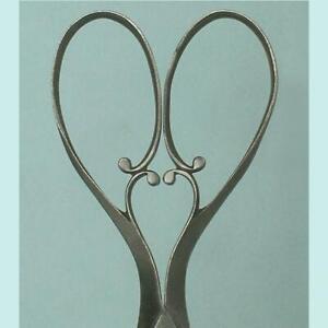 Elegant Antique Cut Steel Embroidery Scissors w/ Heart * English * Circa 1870