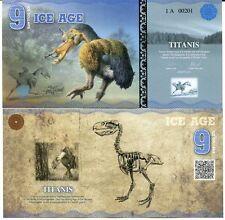 Ice Age 9 Ice Dollars 2015 Paper Titanis Bird Unc