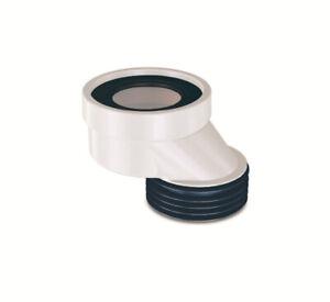 WC Anschlußstutzen Exzentrischer Anschluss Abfluss Rohr Versatz Stutzen ø90 60mm
