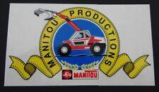 Aufkleber Manitou Productions Hoflader Bagger Baumaschinen 80er Sticker