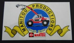Werbe-Aufkleber Manitou Hoflader Bagger Baumaschinen Landmaschinen 80er