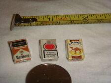 Dollhouse Miniature  Set 3 pcs Cigarette Cigaret Box 1:12  scale