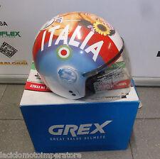 CASCO DEMI JET GREX DJ1 VISOR ARTWORK 72 ITALIA XL